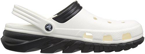 crocs Unisex-Erwachsene Duetmaxclg Clogs White/Black