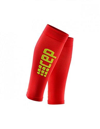 CEP Progressive+ Ultraleichte Kompressions-Beinlinge für Damen, leicht, atmungsaktiv, für Crosstraining, Laufen, Sport, Erholung, Schienbeinkantensyndrom, Waden-Zerrungen und Leichtathletik V rot/grün -