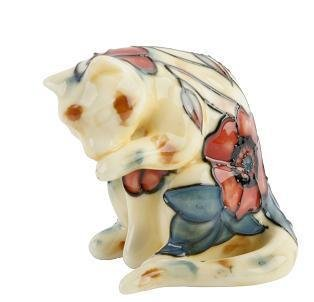 Yellow Poppy Cat Licking Paw - Old Tupton Ware Gift (1660)