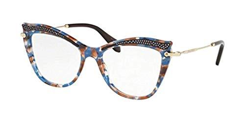 Miu Miu Damen Brillengestell Blau hellblau Einheitsgröße