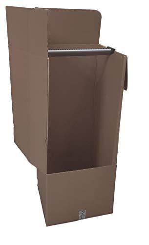 Imballaggi 2000 - scatole cartone porta abiti con barra appendiabiti - 50x50 cm h 120 cm - scatoloni doppia onda per trasloco armadio - confezione da 5 pezzi + 1 nastro adesivo omaggio!