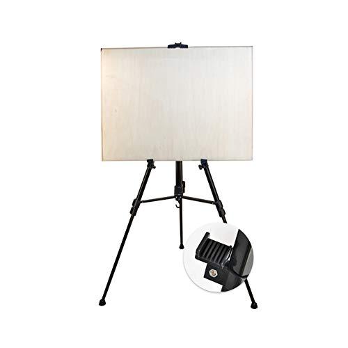 e Staffelei, Premium-Klapp-Teleskop-Präsentation Tragbares verstellbares Stativ Metall & Kunststoff Artist Sketching Gemälde Hochzeiten Schulen College Art Painting -608 ()