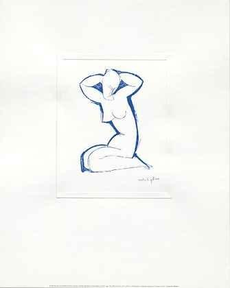 Amedeo Modigliani Kunstdruck (Amedeo Modigliani Poster Kunstdruck Nude Seated On Both Legs Poster Kunstdruck)