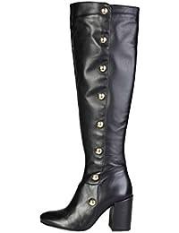 Pierre Cardin - 5238300 bottes en cuir marron talon -Hauteur: 5,5cm