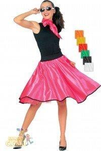 Frauen Kostüm Rockabilly Ideen (Rock 'n' Roll Kostüm für Damen Einheitsgröße | Orange | 2-teiliges Rockabilly Outfit | 50er Jahre Faschingskostüm für Frauen |)