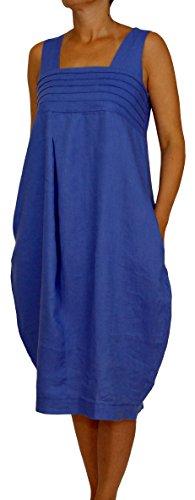 einen Sommerkleid Ballonkleid Farbe Royal Blau Konfektionsgröße 40 Internationale Größe L royalblau Gr. 40/L (Ballon-farben)