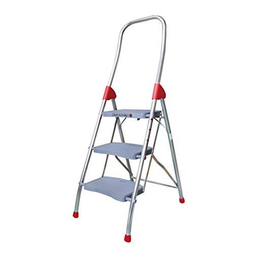 Klappleiter Innenrenovationsleiter, Metalldachboden Dreistufige Leiter Klappbare Multifunktionsleiter Hotel Warehouse Ladder Multifunktion (größe : 530 * 150 * 1540MM)