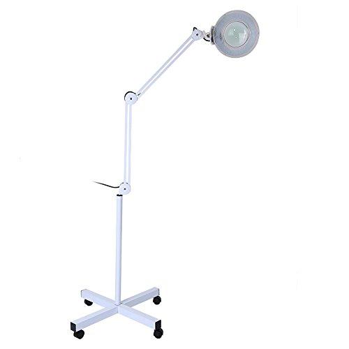 Lampe Loupe LED sur Pied, 5x LED Lampe Loupe sur Pied pour Beauté Cosmétique Maquillage 220-240V...