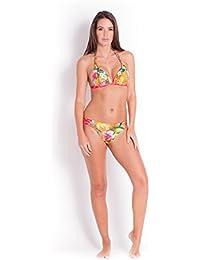 ac2933b96f Banana Moon Maillot de bain triangle orange imprimé tropical Tropisun (Haut)