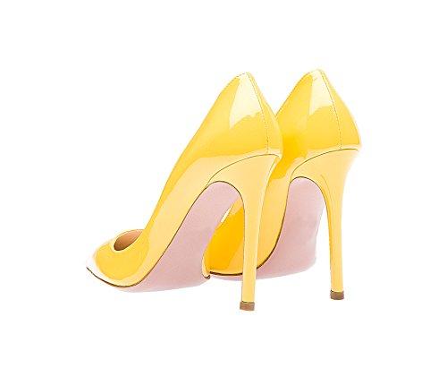 Guoar High Heels Große Größe Damen Spitzschuh Rutsch Büro Damenschuhe  Stiletto 10 CM Ballsaal Party Pumps ... 65d12a24c3