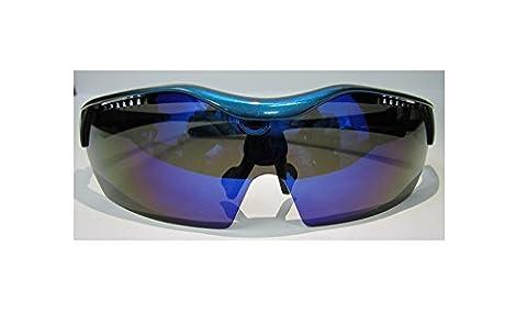 Unisexe empêcher UV400Verres polarisés objectif, durable et léger Bleu métallique Lunettes de soleil dans un étui à lunettes rigide