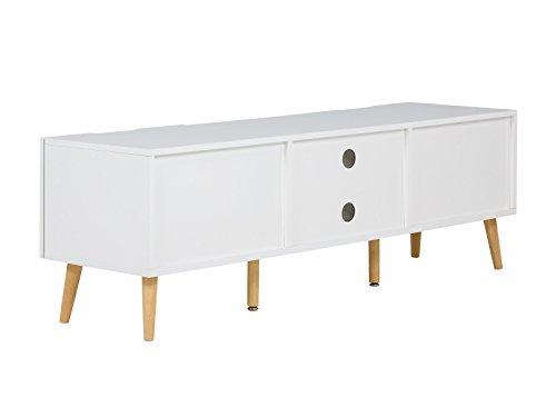 massivum Lowboard Wakefield 140x45x40 cm MDF weiß lackiert - 6