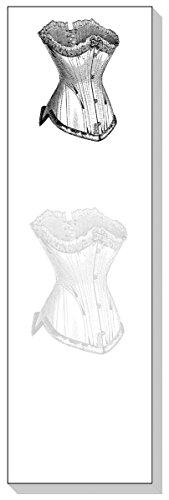 ARS Antigua Slim Schreiben Blöcke (Notizbücher) • Französischer Vintage Bustier • Gravur 1890• zwei Blöcke je 50Blatt-insgesamt 100Bedruckte Blatt - Details Bustier