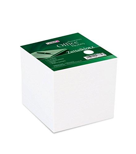 LANDRÉ 100420105 Zettelklotz | weiߟe Zettel |  geleimt | Format 9 x 9 cm | 700 Blatt