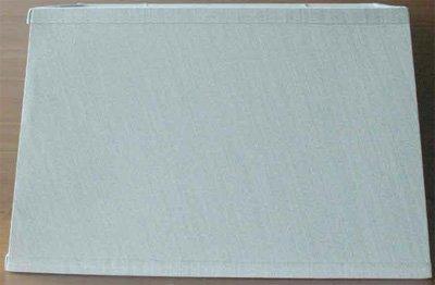Lite Source ch1188Tisch und Boden Rechteck Schatten-Beige Jacquard Strukturierte Stoff, Textil, beige, 14-Inch -