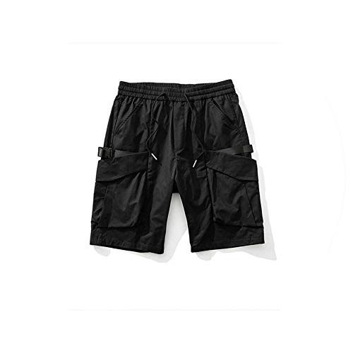 Mens Cargo Shorts Casual Multi Pocket Summer Man Military Short Pants Hip Hop Streetwear Workout Knee Length Shorts,Black,36 (Forever 21 Jogger)