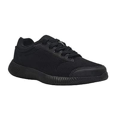 SKUDO KazarMax Boy's/Girl's (Unisex) Black Mesh School Shoes
