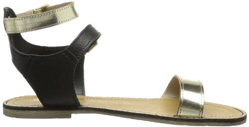 Pepe Jeans Ru-293 A, Scarpe Col Tacco con Cinturino a T Donna Nero (Schwarz (Black))
