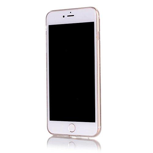 für iPhone 7 Plus Hülle, TPU Handyhülle für iPhone 7 Plus, Vandot Flüssiges Liquid Glitzer Diamant Schutzhülle für iPhone 7 Plus Handyhülle Glitter Bling Shining Luxus Transparent TPU Silikon Zurück C Sequins Silber