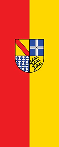 magFlags Ausleger-Flagge: Karlsruhe (Kreis) | Hochformat Fahne | 3.5m² | 300x120cm » Fahne 100% Made in Germany