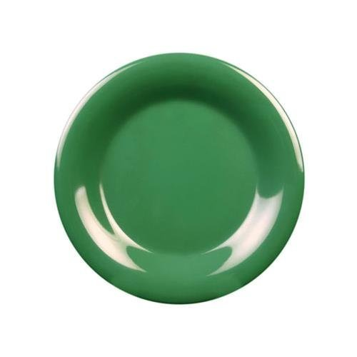 Thunder Group CR007GR Green 7-1/2\ Wide Rim Round Plate 1 DOZ by Thunder Group Plate Wide Rim