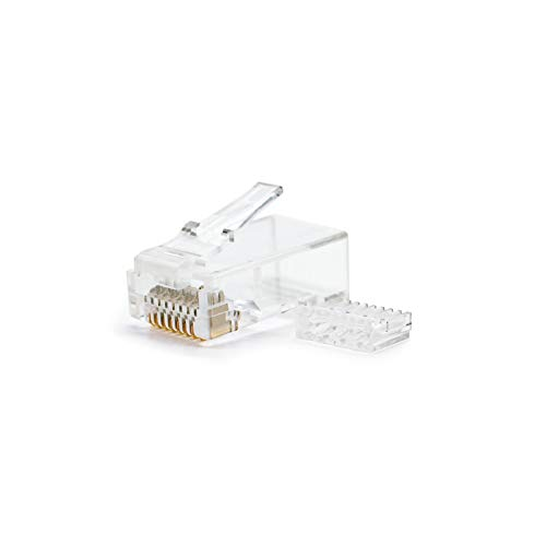NANOCABLE 10.21.0201 - Conector para cable de red Ethernet RJ45, 8 hilos...