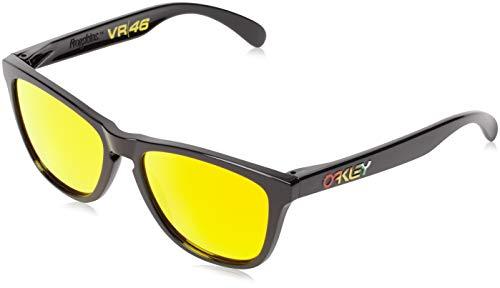 Oakley Frogskins Valentino Rossi Signature Series Sonnenbrille, Mehrfarbig (Gestell: poliert schwarz; Gläser: Fire Iridium 24-325), Large (Herstellergröße: 55)