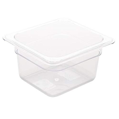 Vogue 1/6GN-Behälter 100mm 1,05Liter klar Catering Lebensmittel Aufbewahrung Pfanne (Für Klare Behälter Lebensmittel)