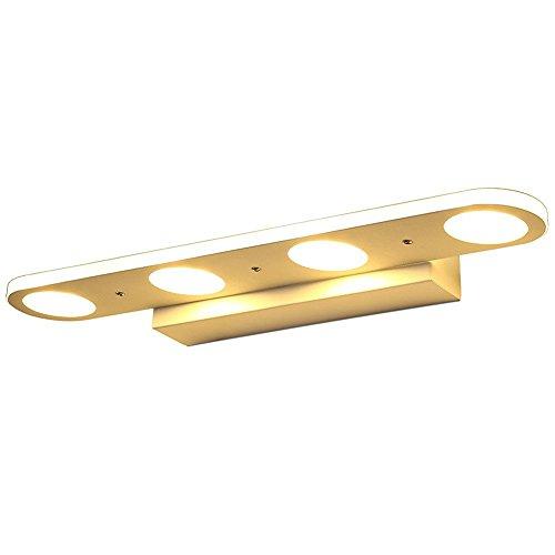 Lightess Lámpara de Baño Lámpara de Espejo Lámpara Moderna de 4 LED 12W, Hace la Luz Frente al Espejo del Baño, Blanco Cálido