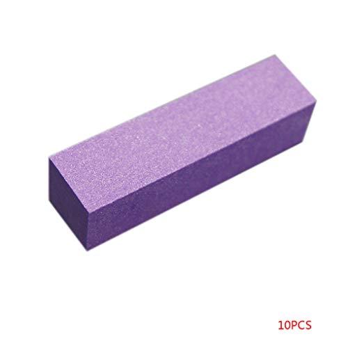 Jinzuke 10Pcs / Set Schleifschwamm Nail Buffer Feilen Block-Schleifen und Polieren Maniküre-Nagel-Kunst-Werkzeug