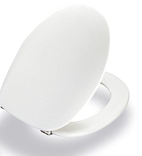 Pressalit 124000-UN3999 WC-Sitz 2000 weiß mit Deckel und Universalscharnier (BN3)