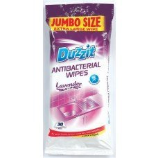 60 Extra Large lavender Anti Bacterial Wipes/2 Packs of 30