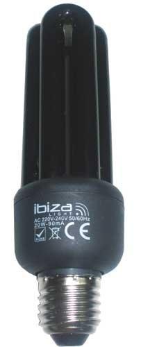 Ibiza BL25ESL - Lámpara económica de luz negra