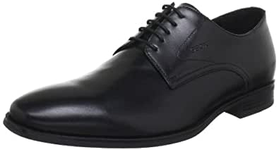 Geox  U ALBERT C, Derby homme - Noir - Schwarz (BLACK C9999), 44 EU