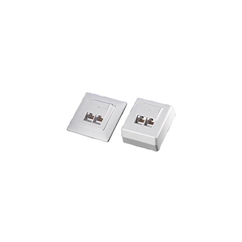Value 25998394 Kat.6/Cl.E Wanddose, ungeschirmt, Aufputz weiß Surface Mount Wall Jack