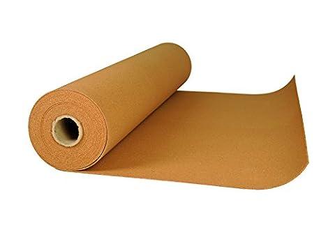 Rollenkork in verschiedenen Maßen und Stärken Kork Rolle Trittschalldämmung Dämmunterlage (Rollenkork 2 mm stark 1 x 10