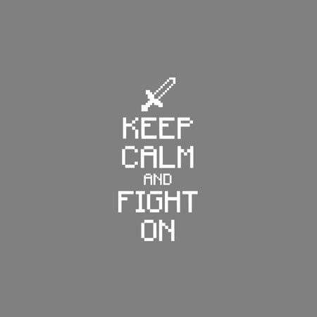 TEXLAB - Keep Calm and Fight On - Stoffbeutel Rot