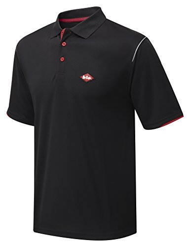 Lee Cooper Performance Polo, Polo-Hemd Schwarz