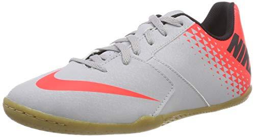 Nike Jr Bomba IC, Scarpe da Calcetto Indoor Unisex-Bambini, Multicolore (Wolf Grey/Black-Bright Crimson 006), 37.5 EU