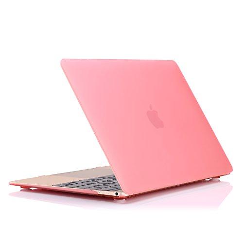 Air Kuzy Macbook (MoKo Hülle für Apple MacBook 12 Zoll - MoKo Schlank Matte Harte PC Schale Schützhülle Case Cover Etui für MacBook 12 inch Retina Laptop Computer 2015 Version,ROSA (Passend nicht für Macbook Air 13