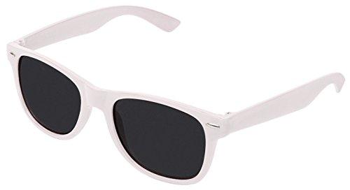 Sonnenbrille Nerdbrille retro Art. 4026 - Boolavard® TM (Weiß Tönung)
