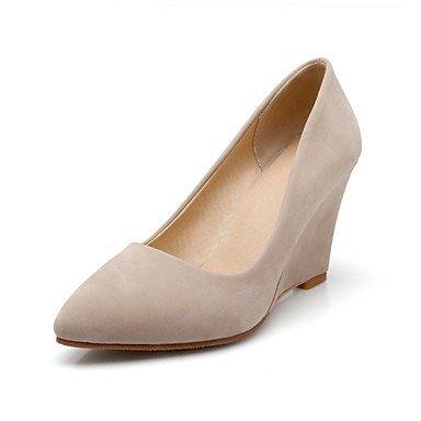 Ch & Tou Womens-heels-leisure / Formal / Casual-talones-wedges-patent / Pu (poliuretano) -negro / Beige / Borgoña / Verde Claro Beige