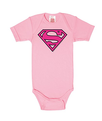 Body para bebé Superman Logotipo ROSA - DC Comics - Superman Logo PIN