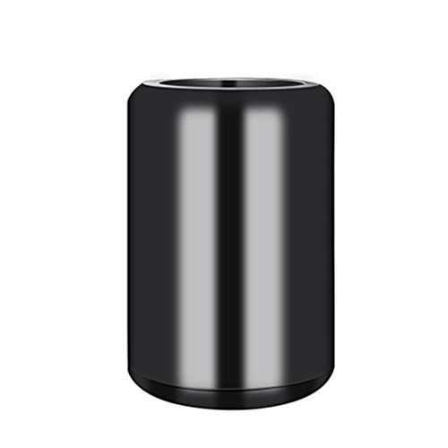 Trash can Open Top Mülleimer, doppelt verdicktes Papierkorb, Edelstahlfarbe 6L / 1.6Gal (Farbe : Schwarz) 50l Open Top Bin