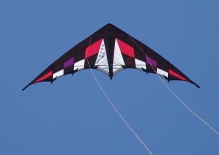 Elliot - Mirage, Ready to fly, Lenkdrachen schwarz,weiß,rot,violett