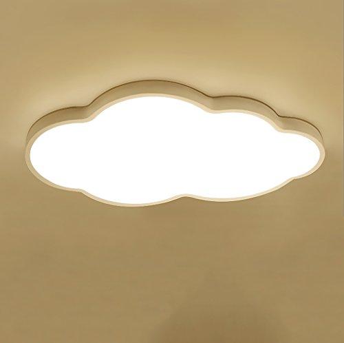 GFL Ultra-Delgada luz de Techo LED, Dormitorio de la Personalidad Creativa, Sala de Estar, lámpara de Techo de Estudio, la Nube de Dibujos Animados se Enciende 24W, Blanco (Color : Luz Calida)