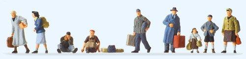 Flüchtling Kostüm - Preiser 1/87th-pr10611-Modelleisenbahnen-Flüchtlinge