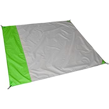 Hillington ® Pocket Size Picnic Beach Blanket Foldable Portable Lightweight Waterproof Camping Beach Mat 155cm X 140cm-Premium Quality