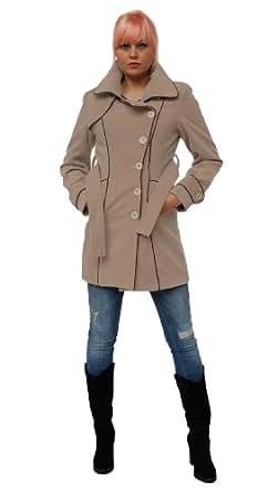 Gorgeous lined Coat beige L/38 (5437)