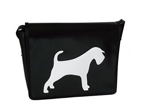 Goellerbags Umhängetasche Hunde-Motiv Schnauzer Weiss/Schwarz H 20, B 26, T 8 cm -